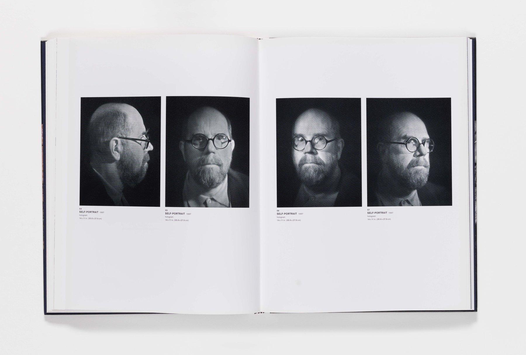 Chuck Close Self-Portraits publication pages 54_57