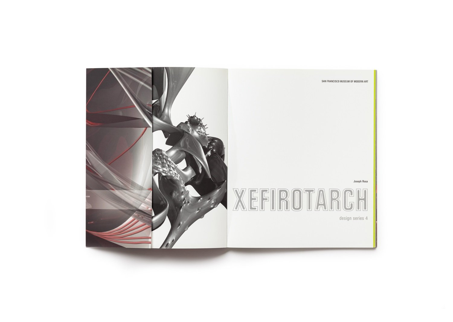 Xefirotarch: design series 4 publication front endsheet (closed)