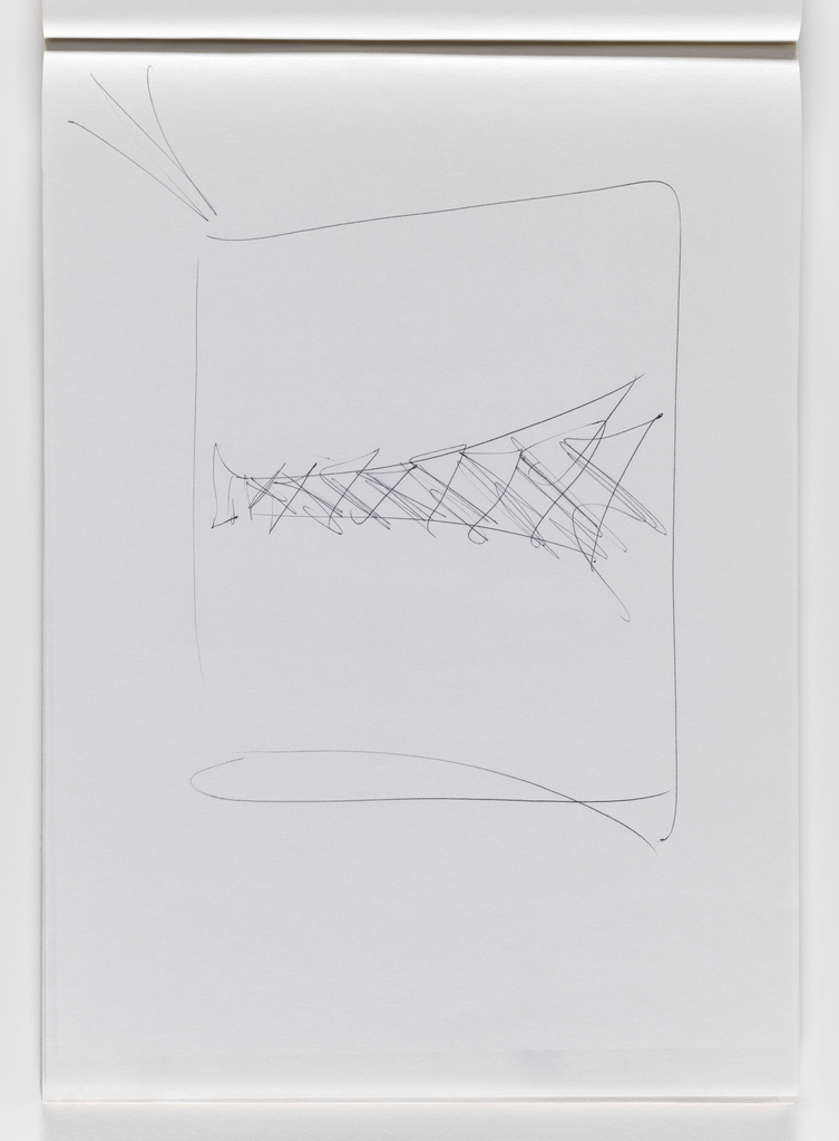 Nam June Paik, Untitled, from Untitled Notebook, 1980 page 13