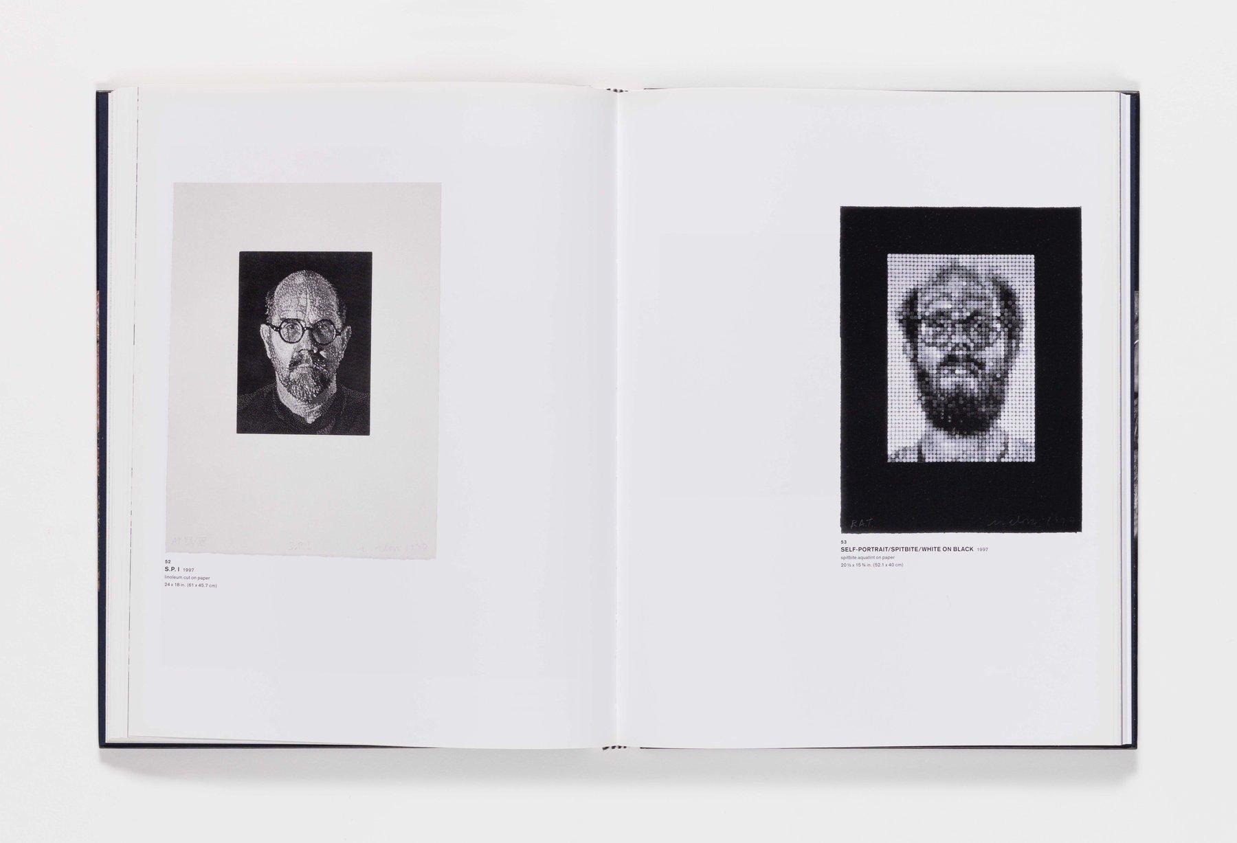 Chuck Close Self-Portraits publication pages 52_53