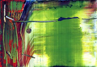Richter, green red and blue abstract painting