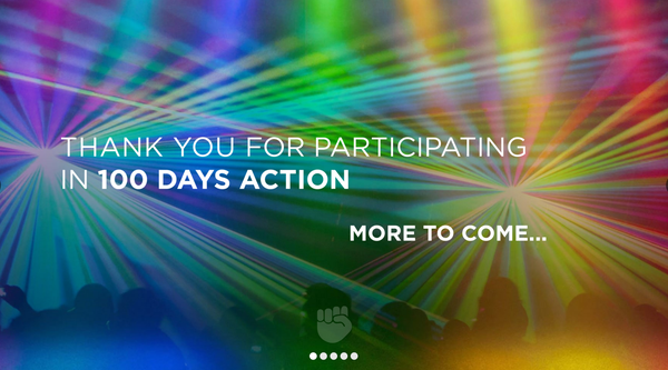 100 Days Action website