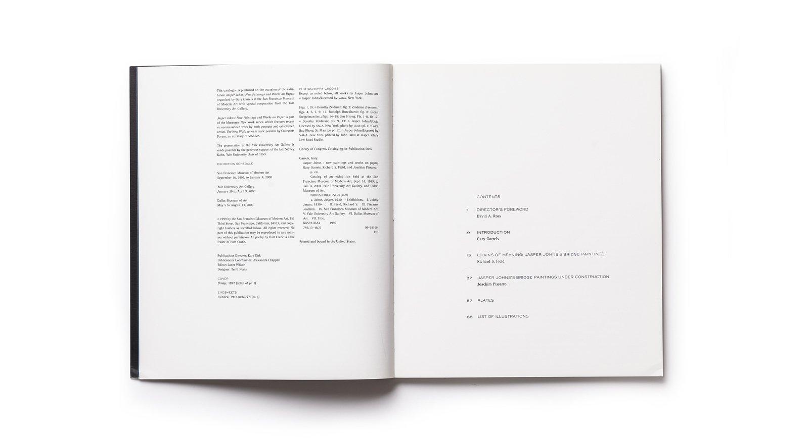 Jasper Johns contents