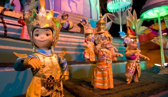 It's a Small World Disney Land figures lit up