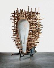 Puryear, installation shot of wooden sculpture