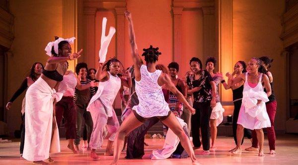 African American women perform a dance