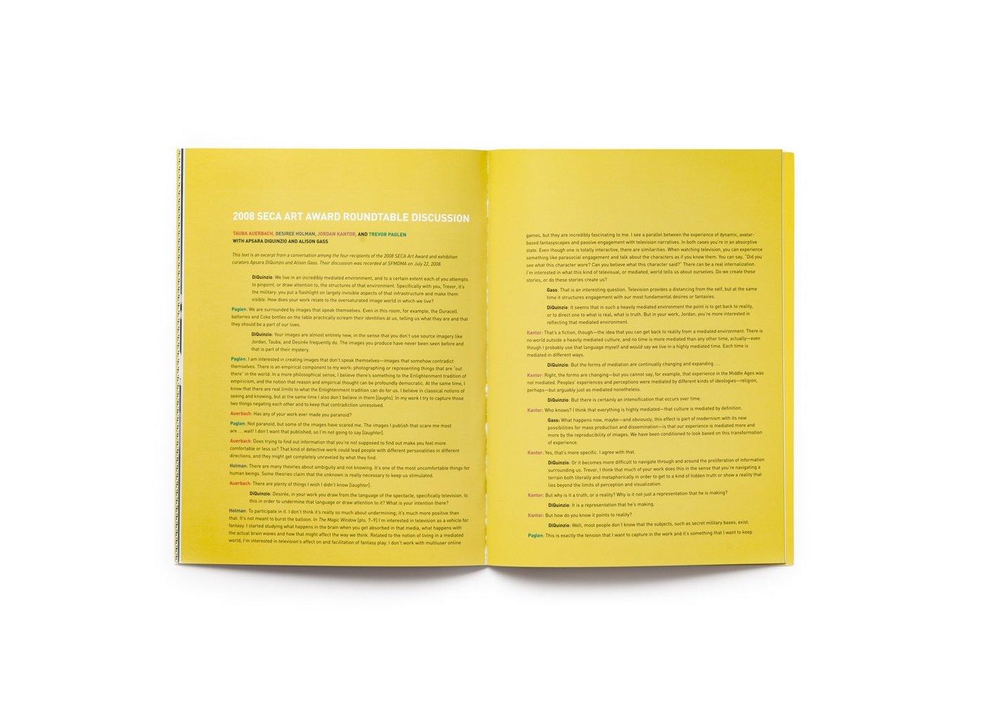 2008 SECA Art Award publication pages 16-17