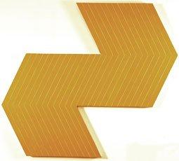 Stella, yellow geometric canvas