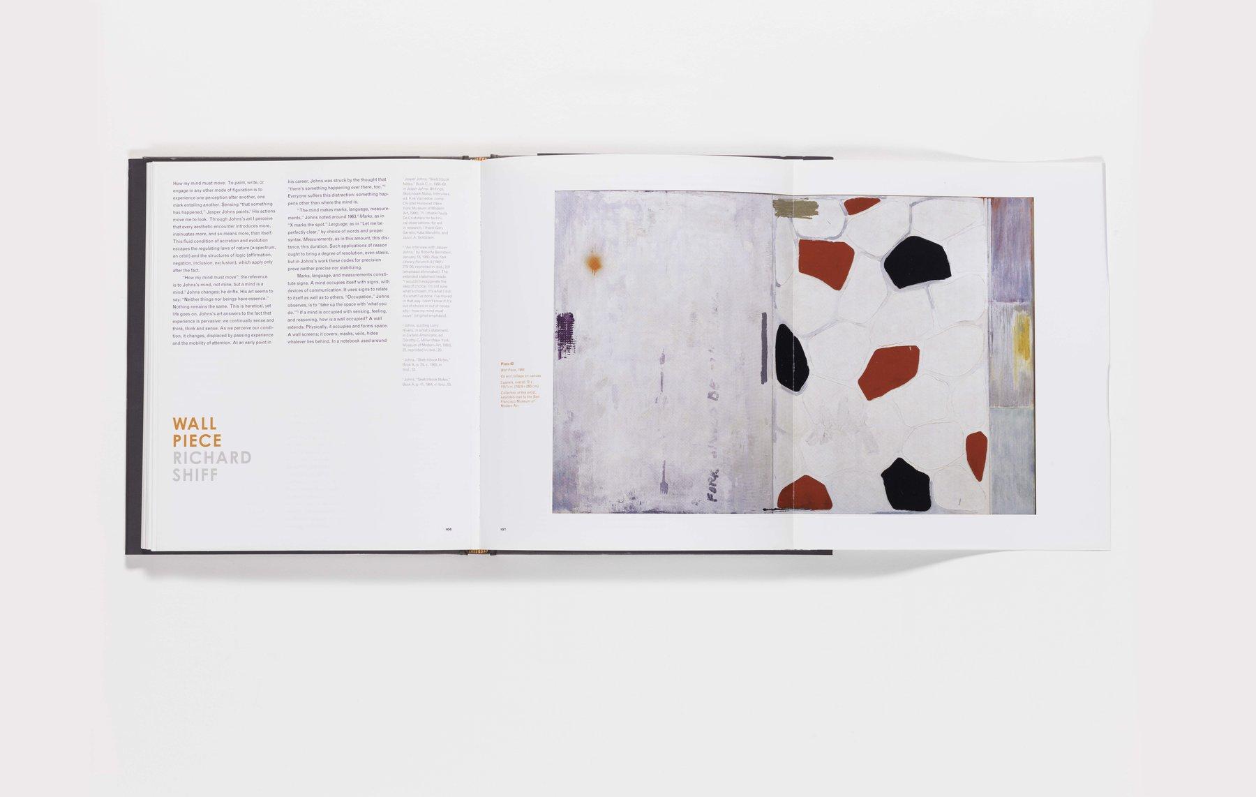 Jasper Johns publication foldout pages 106-107 (open)