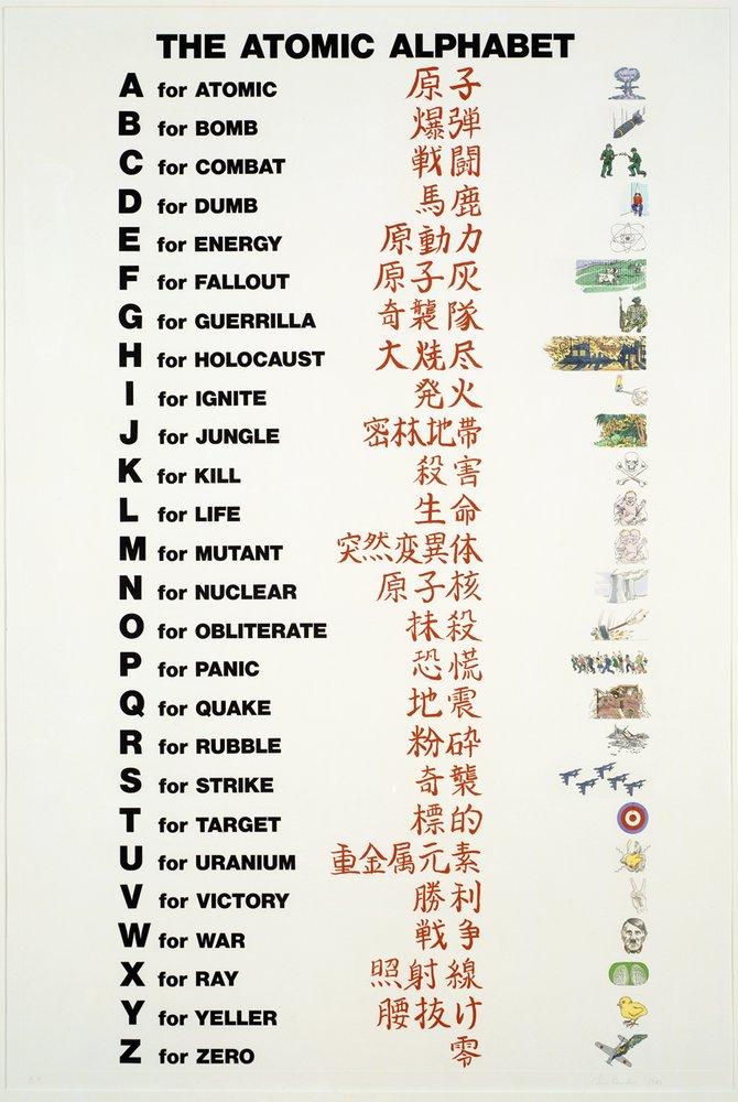 Artwork image, Chris Burden Atomic Alphabet