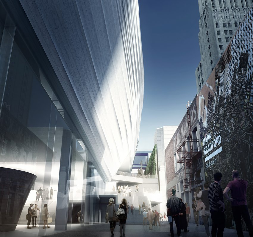 A rendering depicting the new entrance to SFMOMA on Howard Street