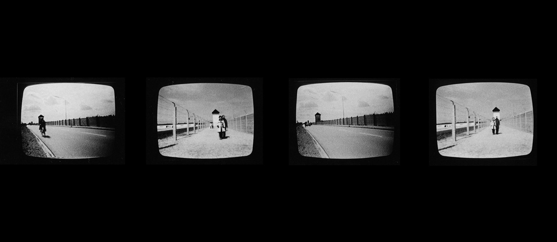 Video still, Beryl Korot, Dachau 1974