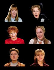 composite image of six famous actresses