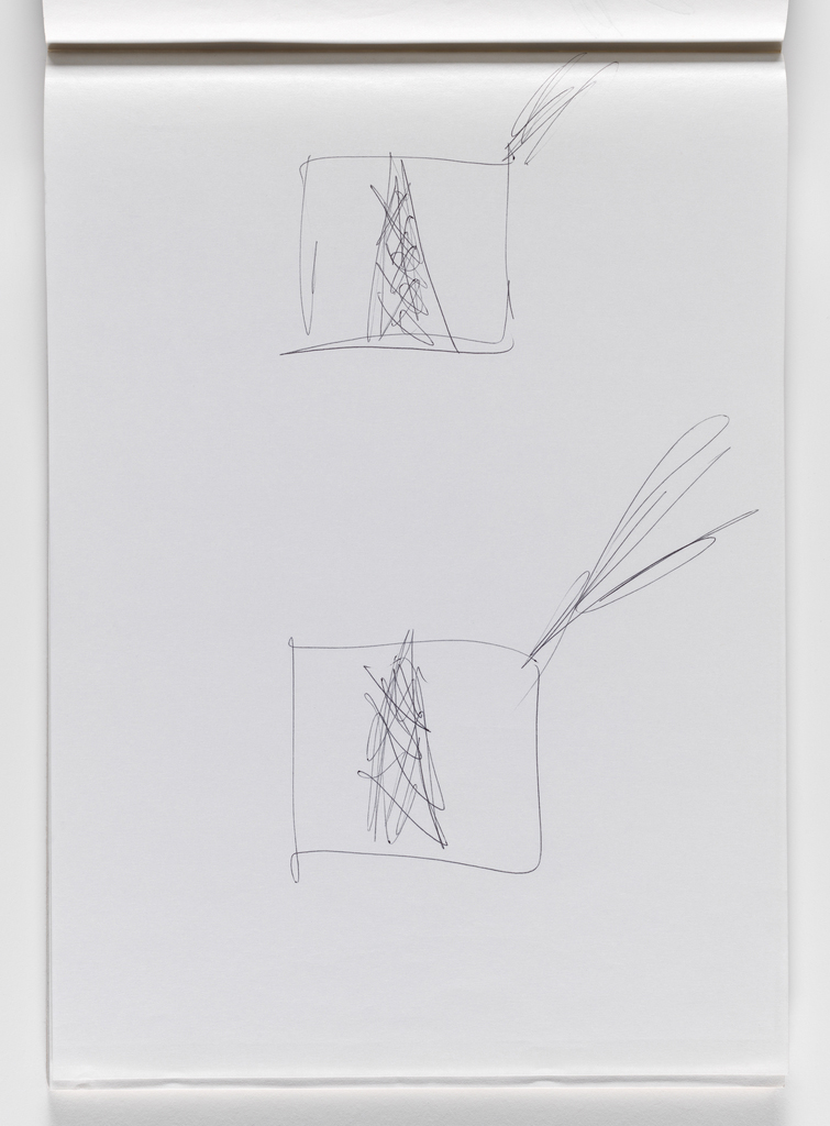 Nam June Paik, Untitled, from Untitled Notebook, 1980 page 5