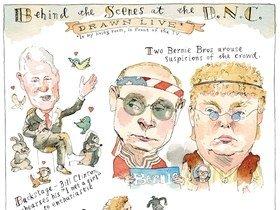 A cartoon characterization of Donald Trump and Putin
