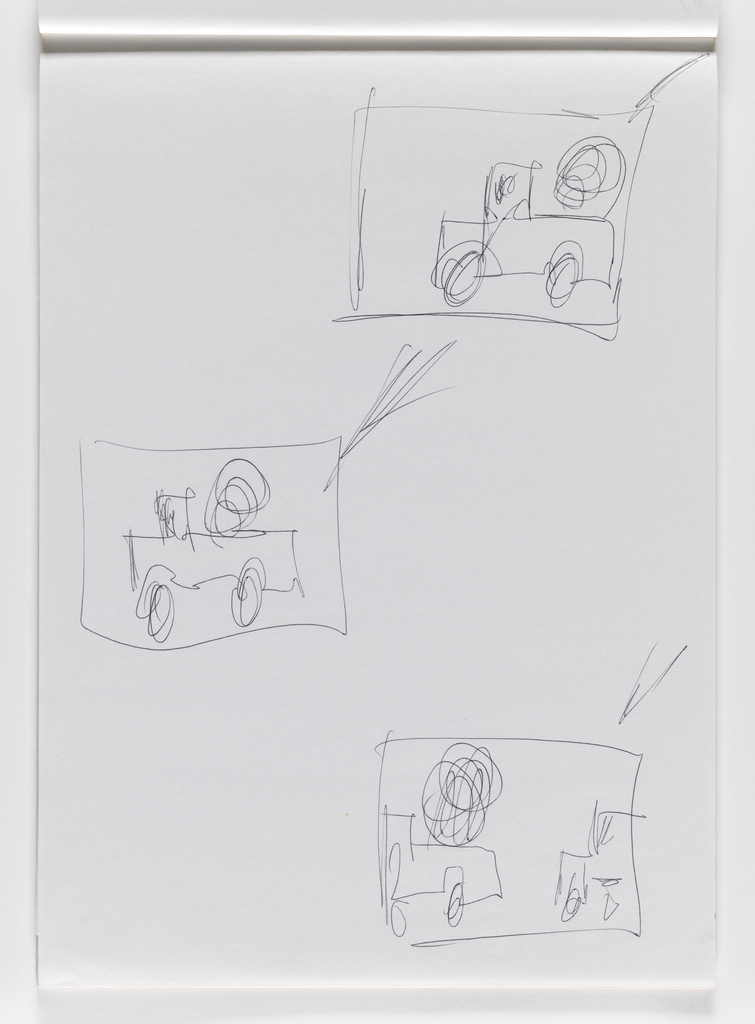 Nam June Paik, Untitled, from Untitled Notebook, 1980 page 33