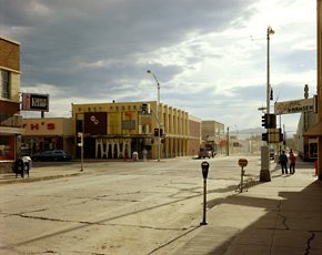 Stephen Shore, color photo of Montana town