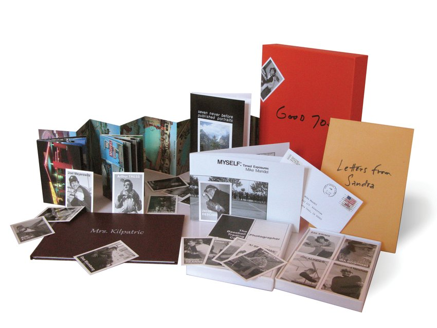 A product shot of photos, letters, and other ephemera, Mike Mandel Good 70s