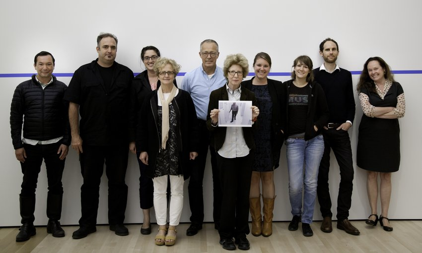 The Artist Initiative team with Julia Scher