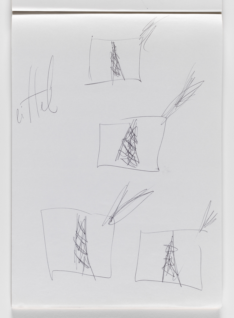 Nam June Paik, Untitled, from Untitled Notebook, 1980 page 15