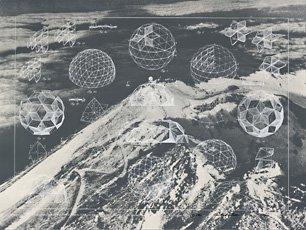 Buckminster Fuller geodesic dome print