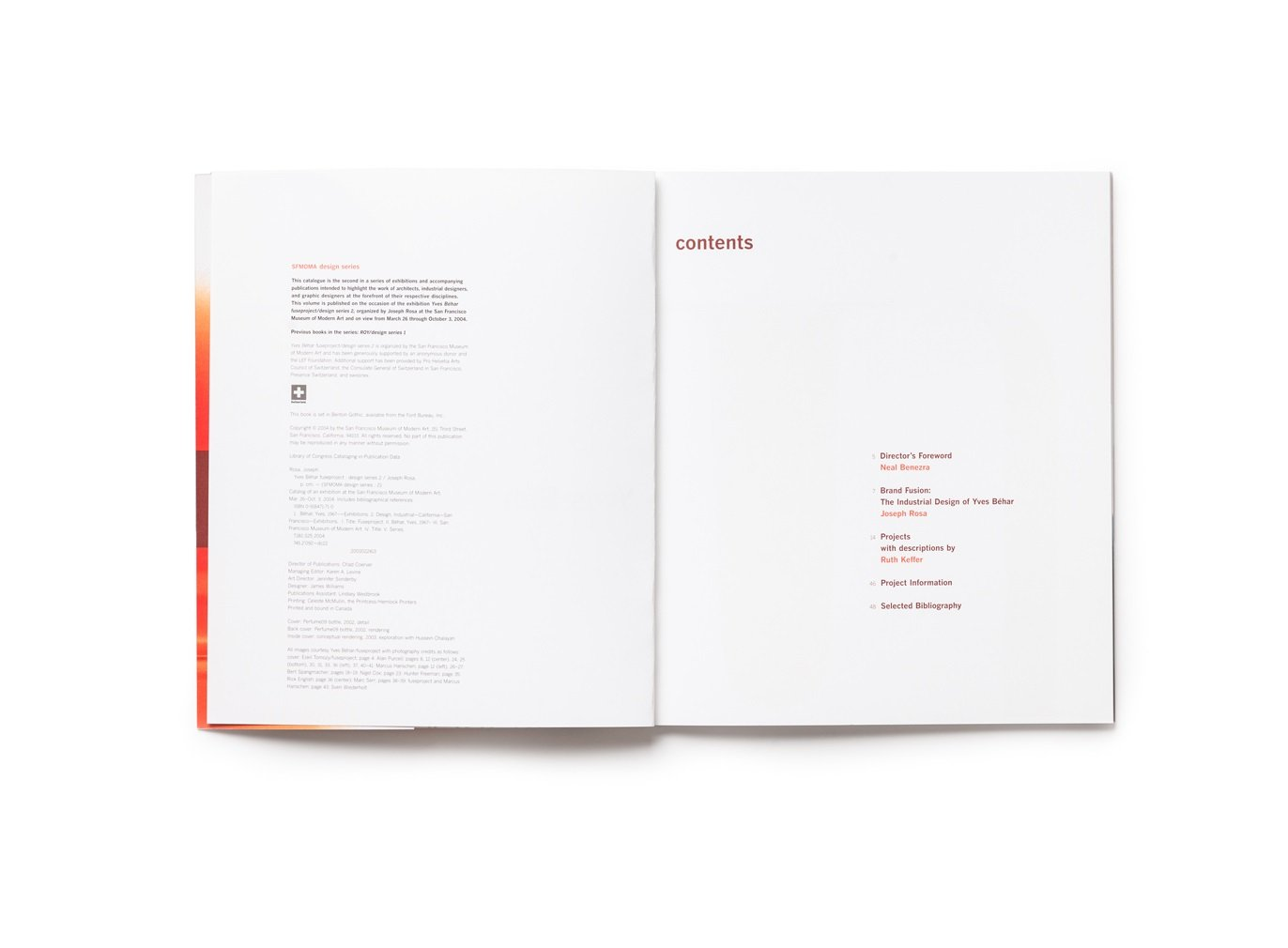 Yves Béhar fuseproject: design series 2	publication table of contents