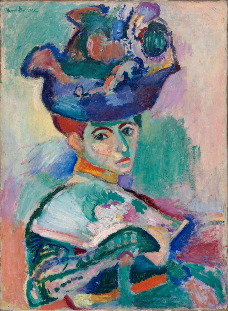 Artwork image, Henri Matisse's Femme au Chapeau