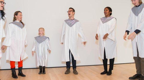 Performance view, Chris Kallmyer, A Paradise Choir