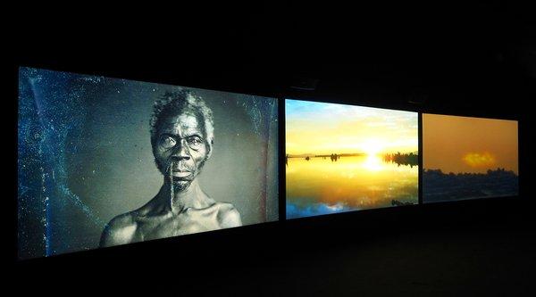 John Akomfrah, Vertigo Sea, installation view