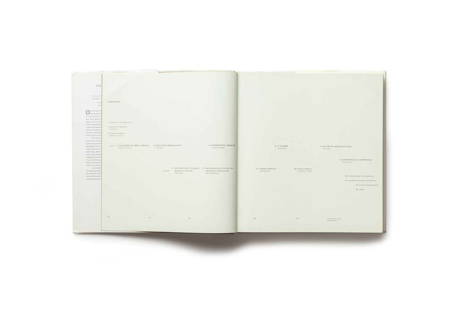 The Art of Richard Tuttle publication table of contents