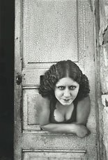 Cartier-Bresson photo of girl and door