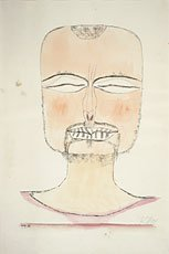 drawing of man's head with closed eyes