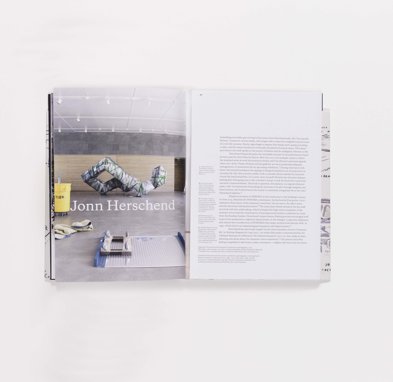 2012 SECA Art Award publication folding pages 24-25 (closed)