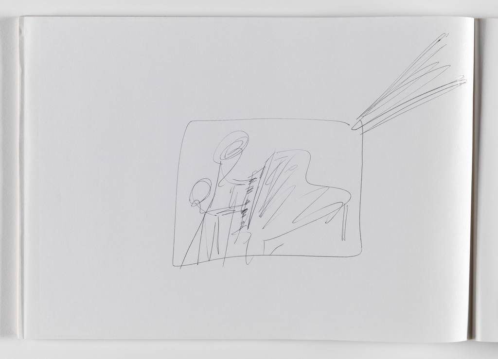Nam June Paik, Untitled, from Untitled Notebook, 1980 page 10
