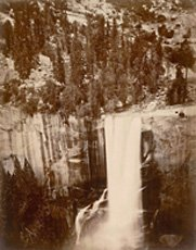 Muybridge, photo of Yosemite waterfall