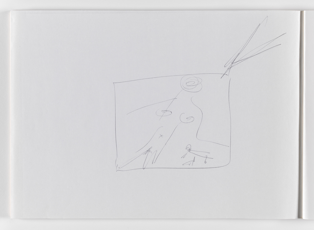 Nam June Paik, Untitled, from Untitled Notebook, 1980 page 7