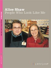 A book cover featuring an image of a Caucasian woman and man both wearing glasses, Alice Shaw, Collinson