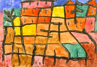Klee, colorful houses with black outlines