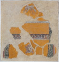Italian fresco fragment (likely Pompeian or Neapolitan). Robert Rauschenberg Foundation