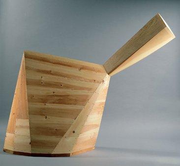 Puryear, geometric wooden sculpture