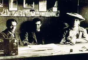 photo of Olivier, Picasso, and Rentevs in Paris