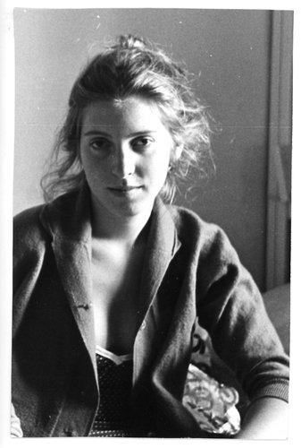 Black and white portrait of photographer Francesca Woodman