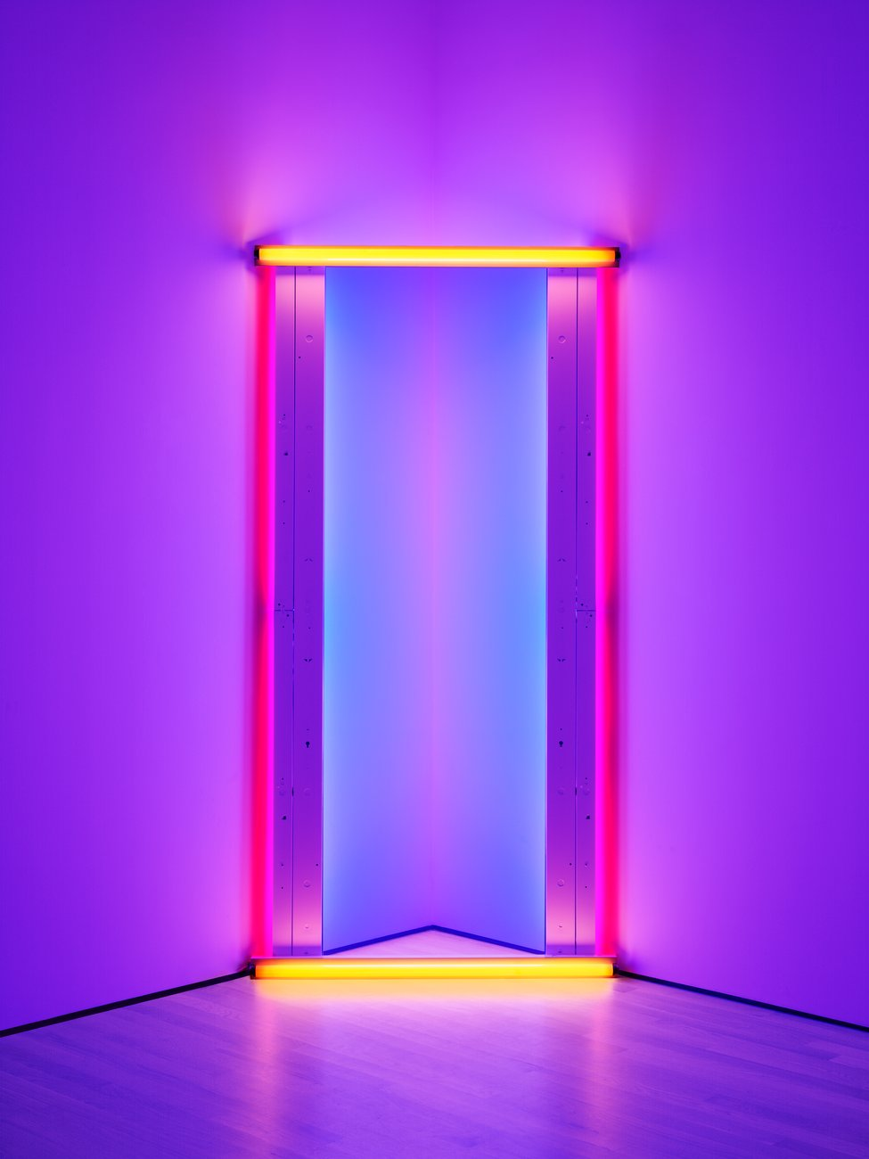 Artwork image, Dan Flavin's untitled (to Barnett Newman) two