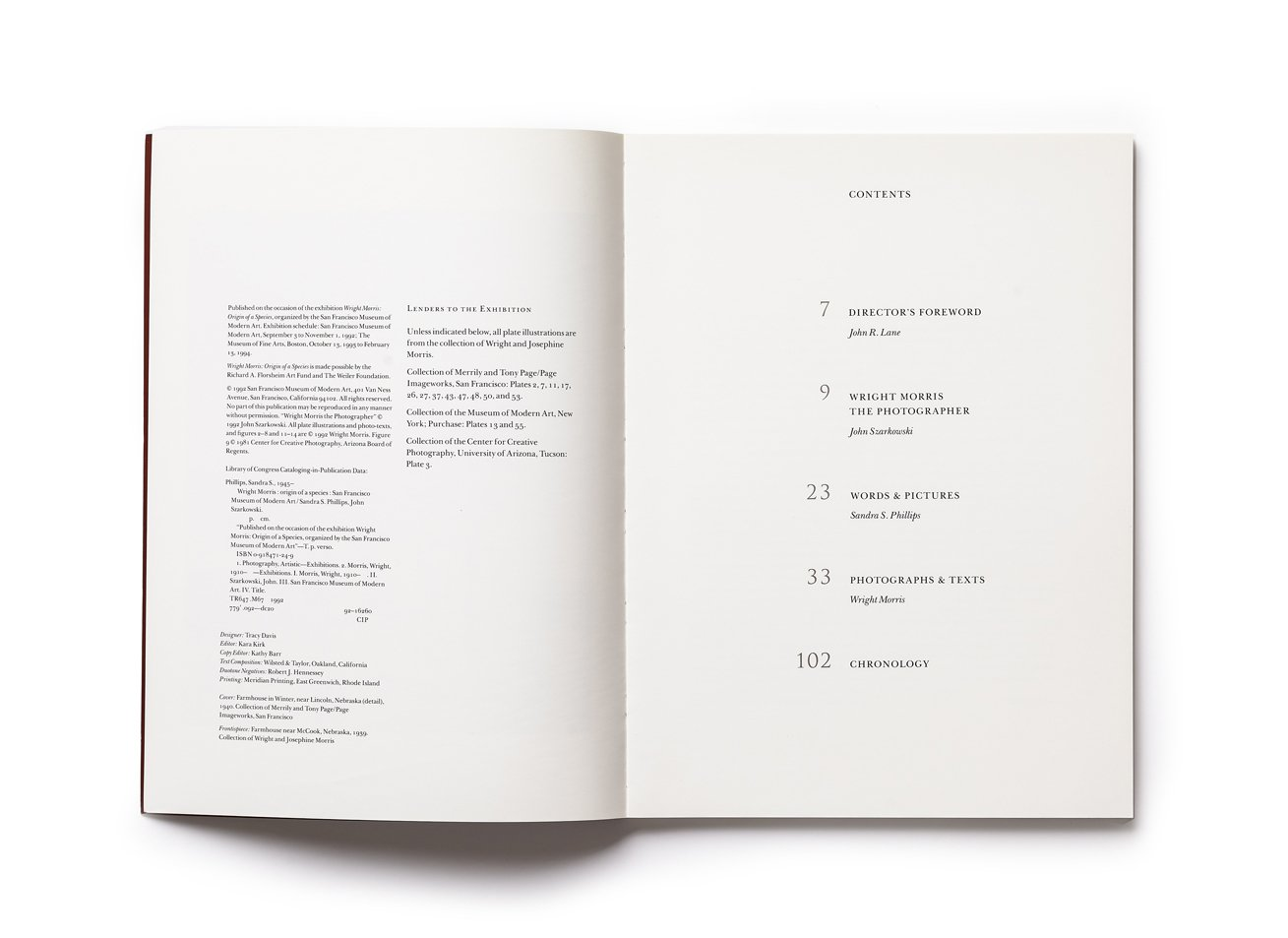 Wright Morris, contents