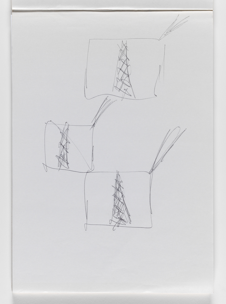 Nam June Paik, Untitled, from Untitled Notebook, 1980 page 2