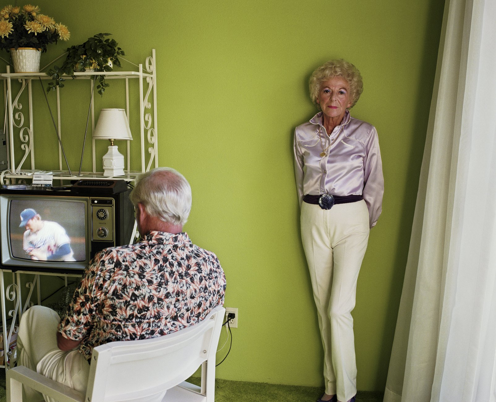 Artwork image, Larry Sultan, My Mother Posing for Me
