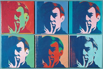 Andy Warhol six self portraits painting