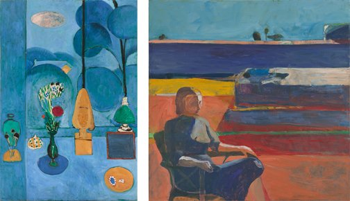 A painting by Henri Matisse and a painting by Richard Diebenkorn