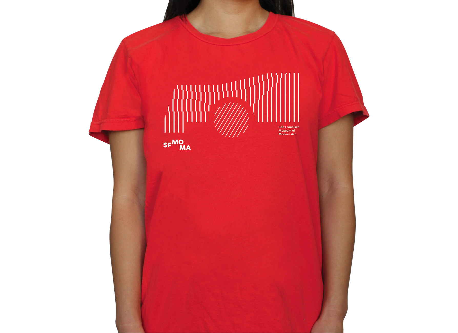 Red SFMOMA t-shirt