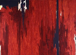 clyfford still, red abstract painting